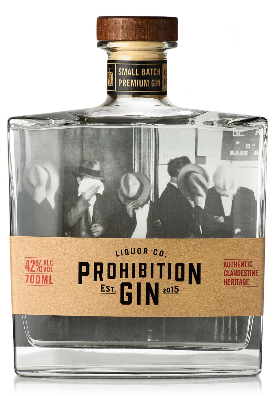 Prohibition Liquor Co Original Gin - Front Label