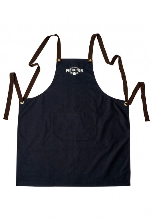 PLC Black Cotton Apron