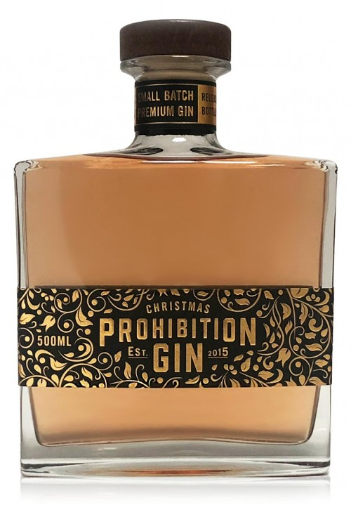 Prohibition Liquor Co Christmas Gin Front
