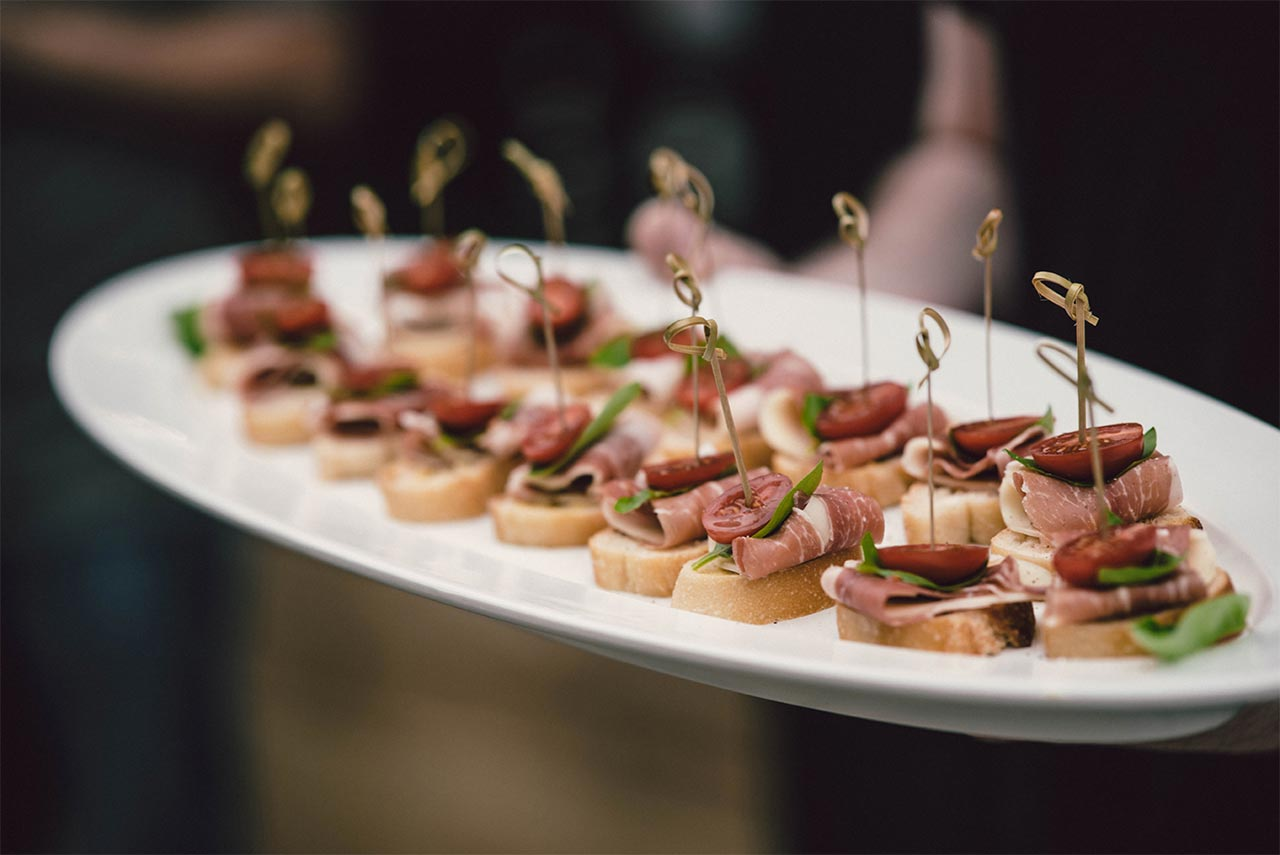 Canapés from the Prohibition Liquor Tasting Room functions menu