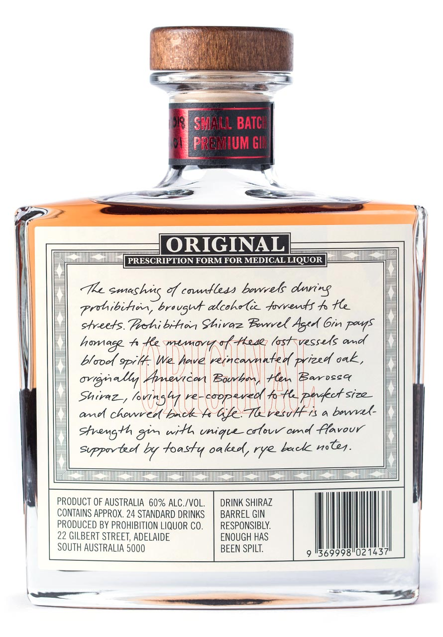 PLC Shiraz Gin Rear