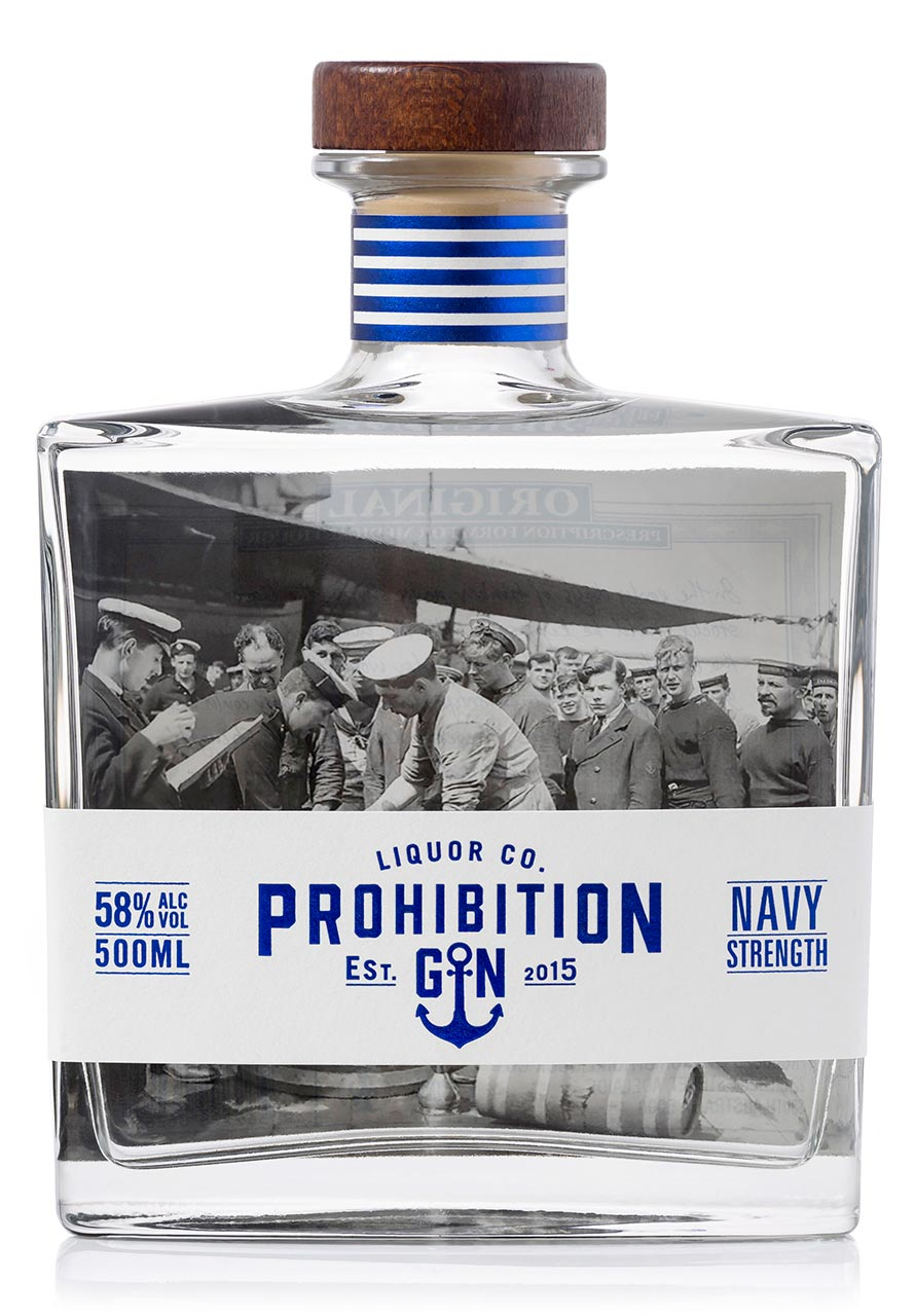 Prohibition Navy Strength Gin Front