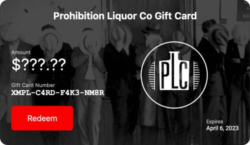 Prohibition Liquor Co Gift Voucher with unspecified value