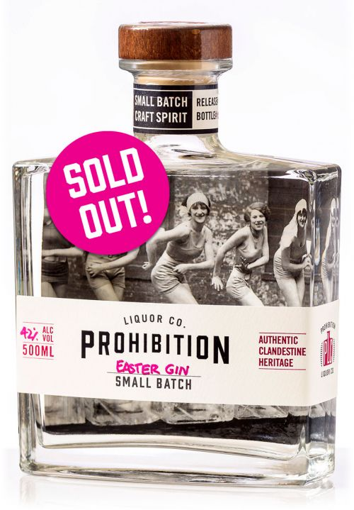 Prohibition Liquor Co Easter Gin - Front with Sold Out badge