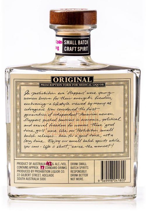 Prohibition Liquor Co Easter Gin - Rear