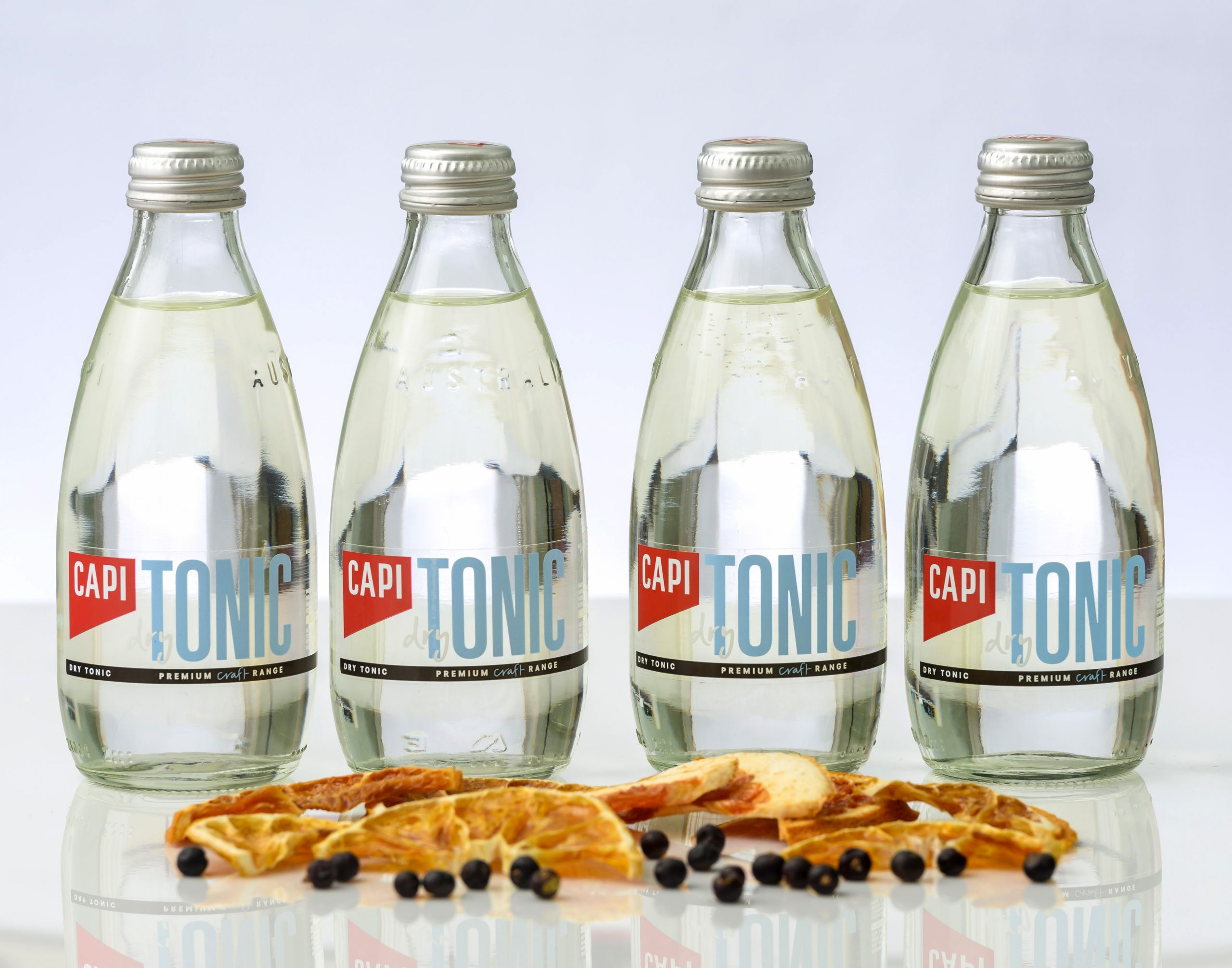 Four bottles of Capi Dry tonic